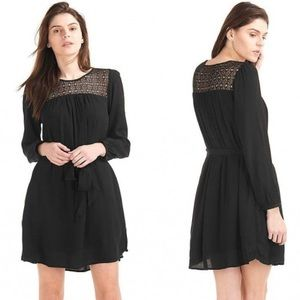 Gap | Crochet Yoke Tunic Long Sleeve Dress
